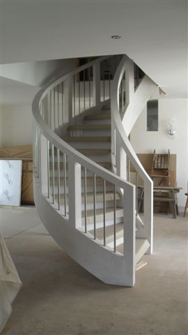 White Curved Staircase