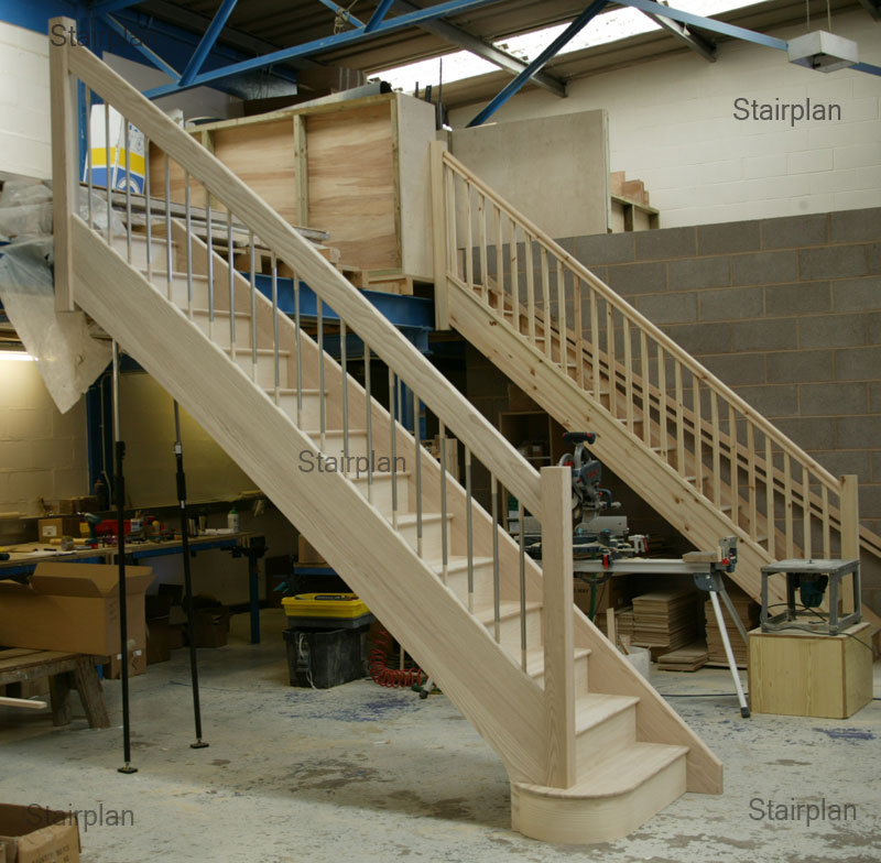 Ash Straight Staircase Feature Staircase