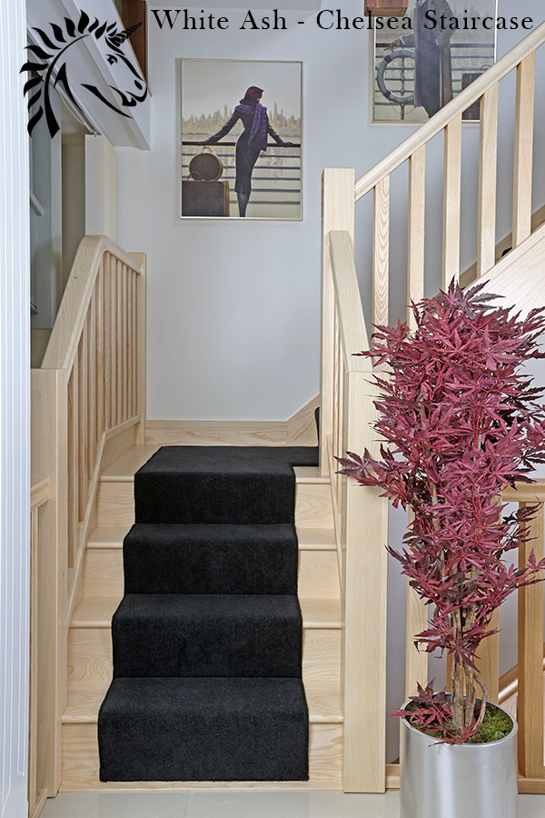 Chelsea Pure White Ash staircase