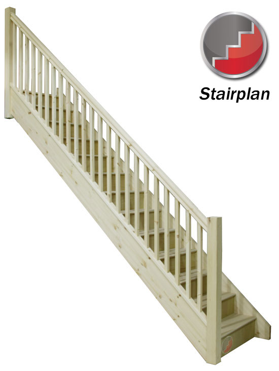 Trade Range Staircase with handrail