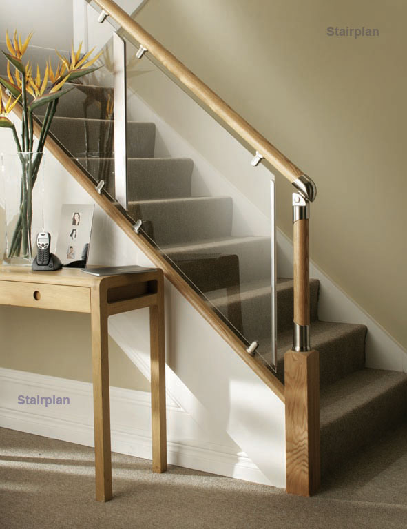 fusion stair balustrades with acrylic clear plastic