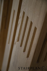 Harlech Oak Stair Parts with square fluted newel posts