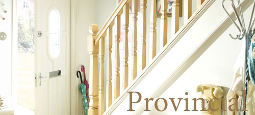 Provincial Style Stair Balustrade