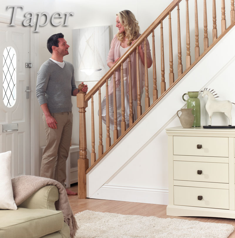 Taper stairparts in Oak