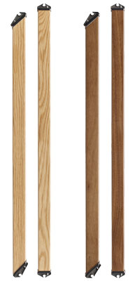immix wooden stair spindles in oak and walnut