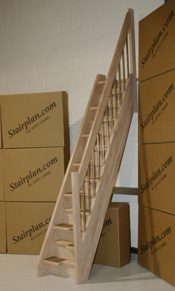 Beech 40 space saving staircase with european style handrail