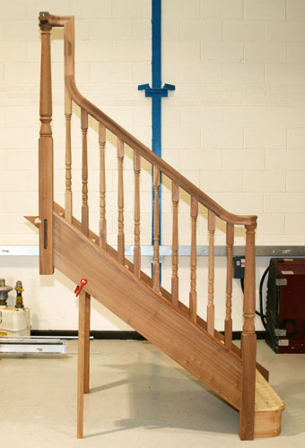 Hardwood Continuous Handrail