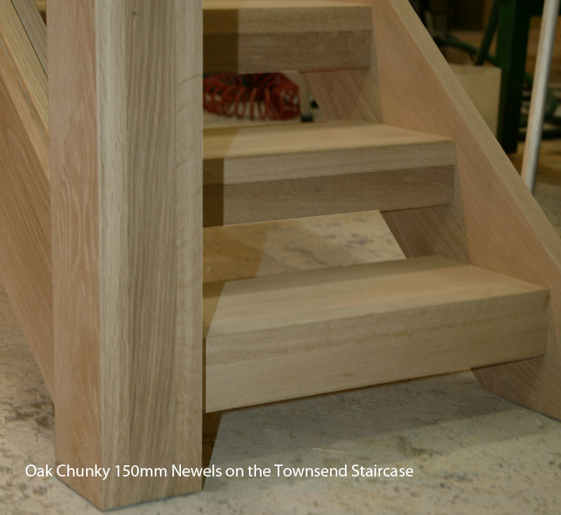 Chunky contemporary oak staircases