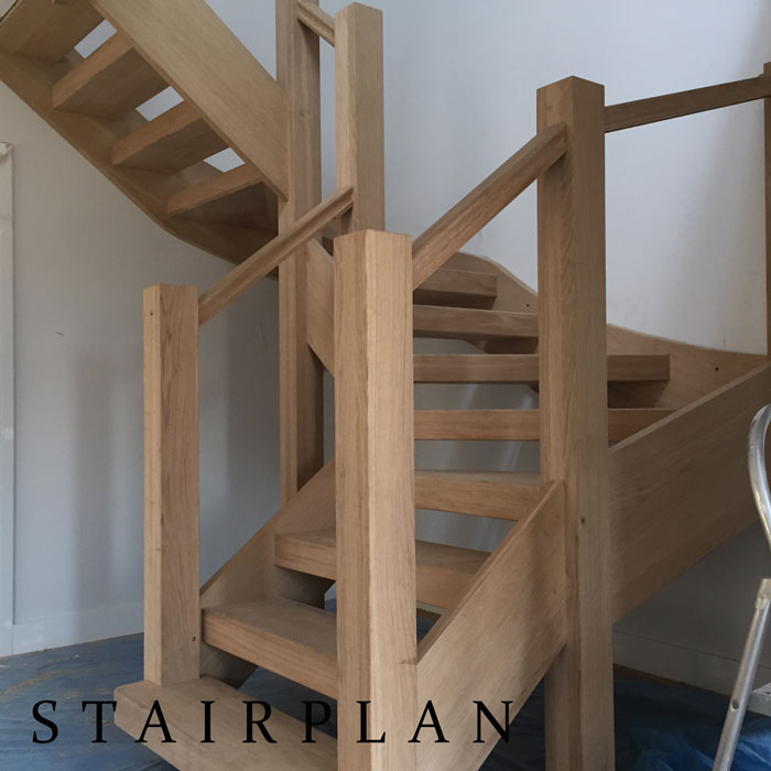 Luxury oak staircases like the Townsend winder staircase from stairplan