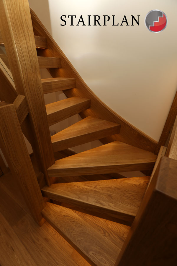 Oak staircases for the dream installation