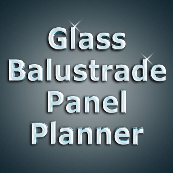 Online glass balustrade panel planner