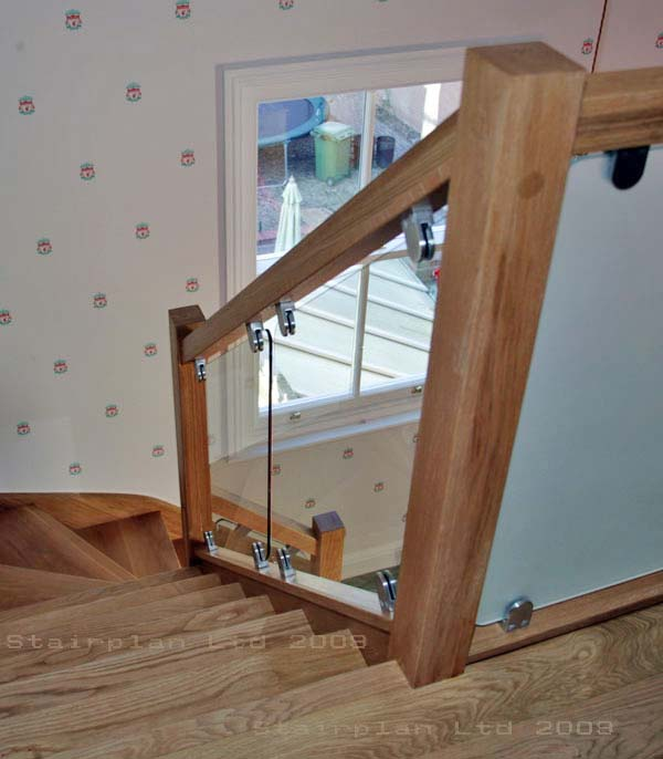 Oak Vision glass balustrade panels