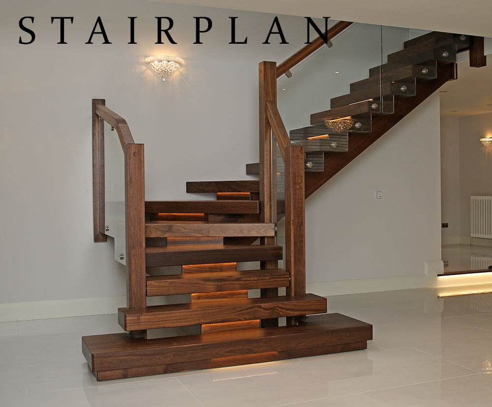 Black walnut feature staircases 2016