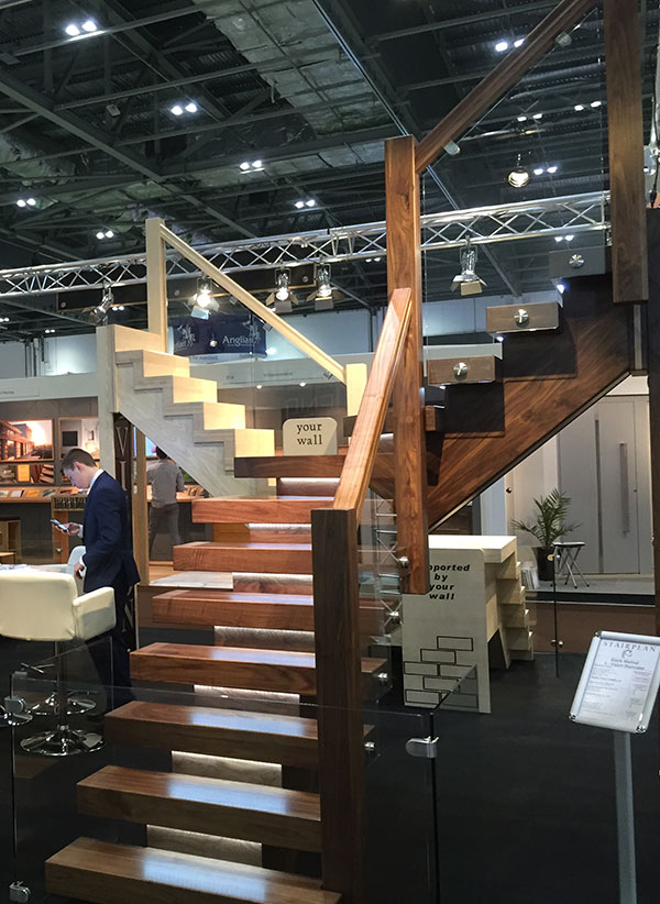 Black Walnut X-Vision Staircase at the London Grand Designs Live