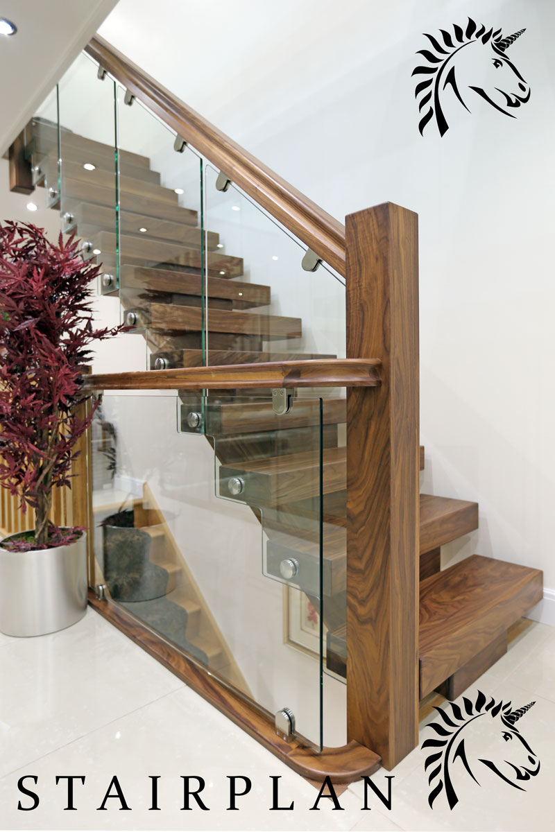 Walnut Staircases X-Vision design